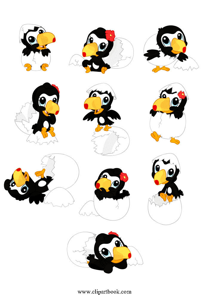 Cute Baby Toucan Clipart.