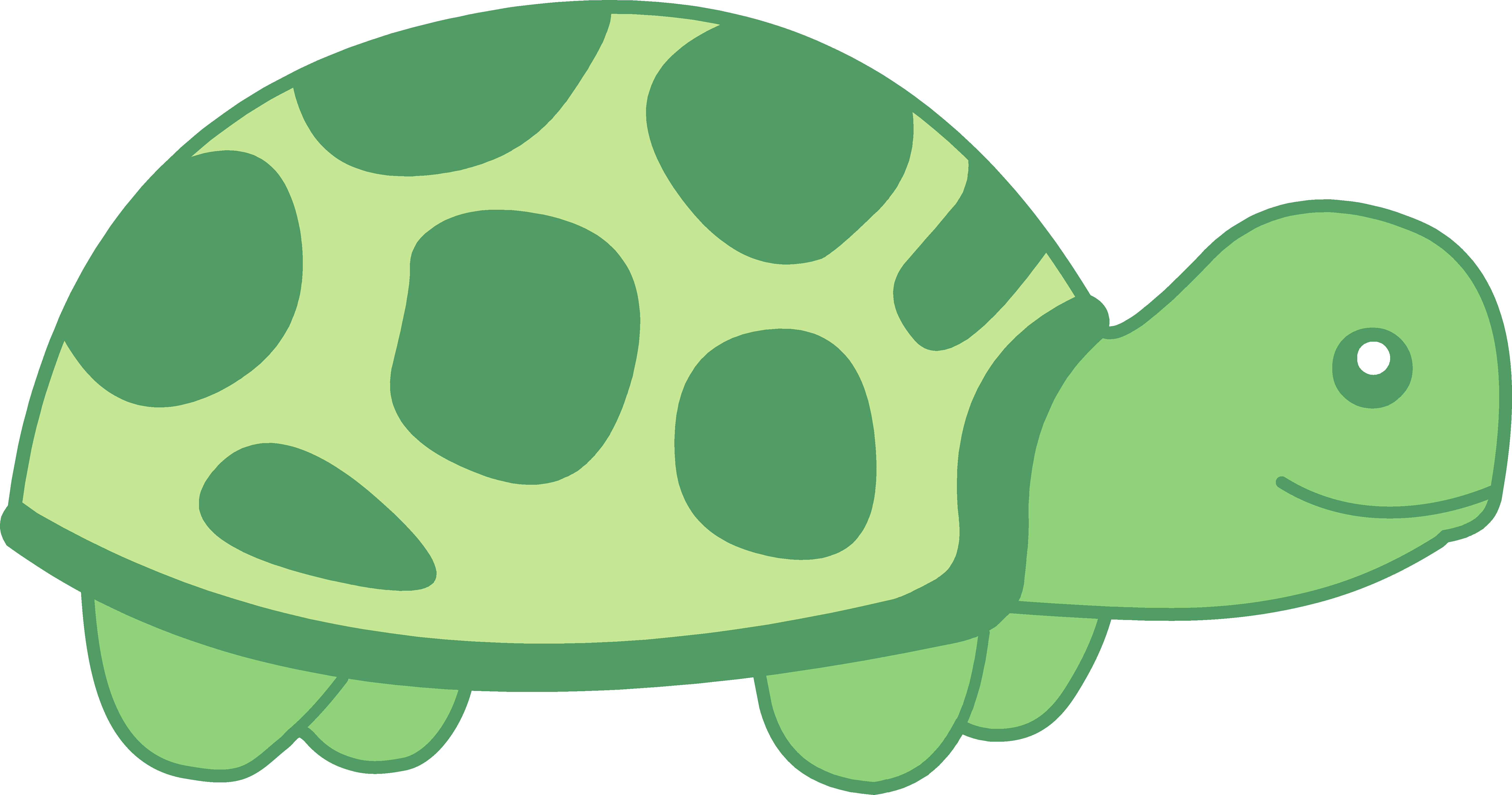 Cute Baby Turtle Little Green clipart free image.