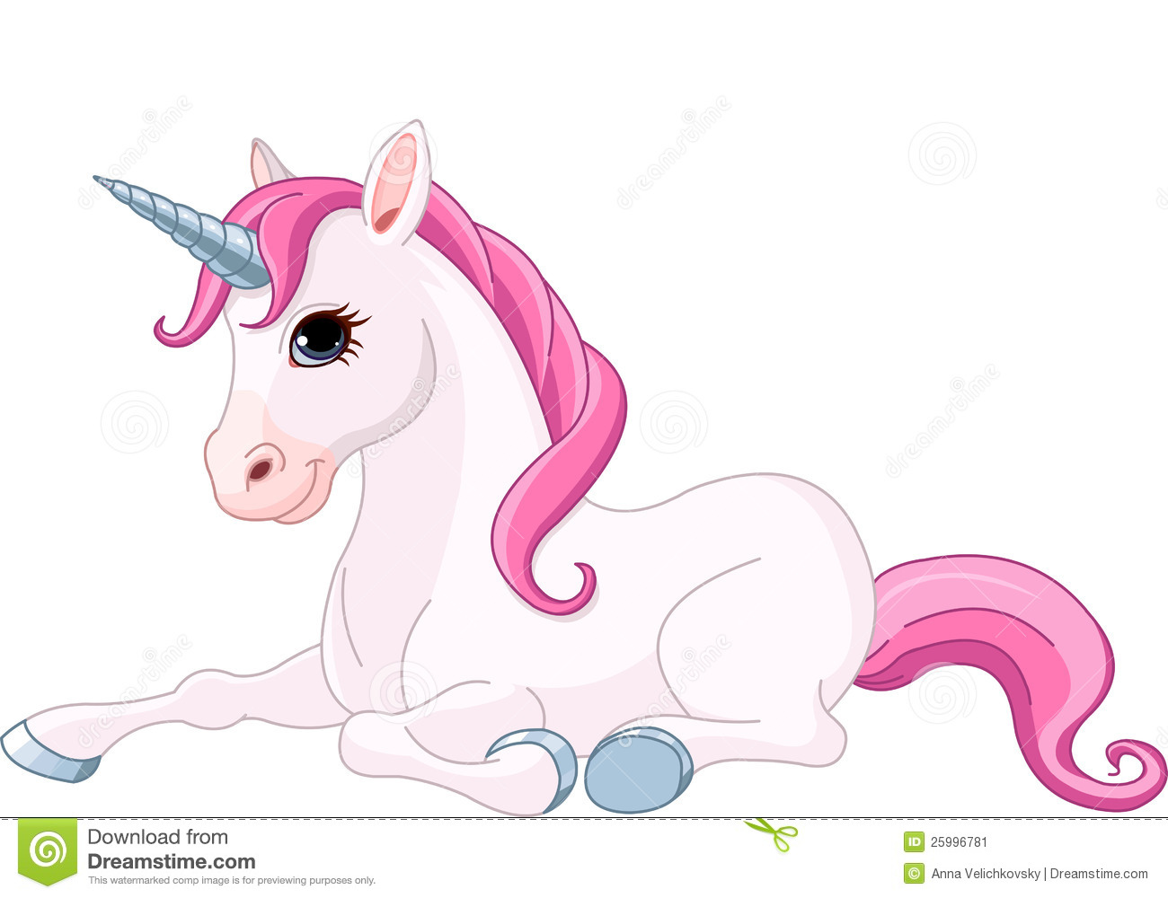 Adorable Unicorn Stock Image.