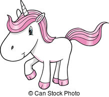 Vector of cute unicorn baby, with moon, and cactus csp8061188.