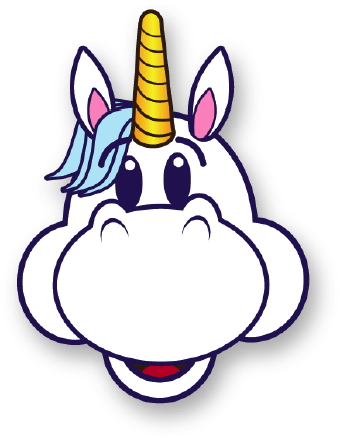 Cute baby pink unicorn free clip art.