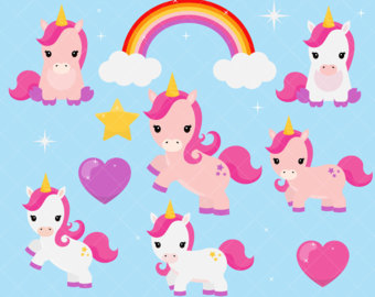 cute baby unicorn clip...
