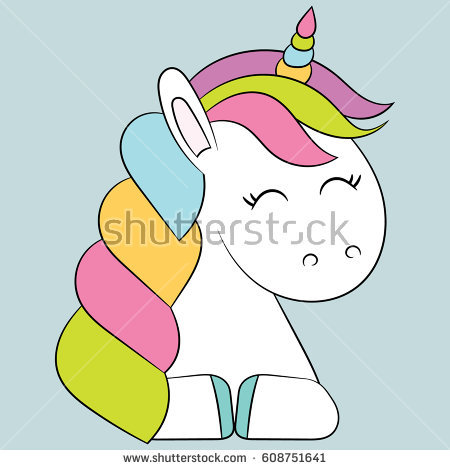 Child Unicorn Drawing Stock Images, Royalty.