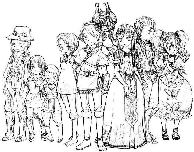 17 Best images about Zelda Black & White on Pinterest.