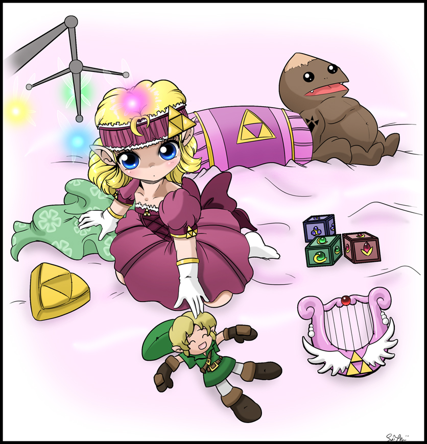 Fan art of baby Princess Zelda. Squee! She's adorable!.