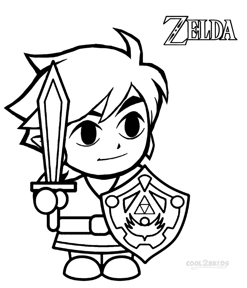 Printable Zelda Coloring Pages For Kids.