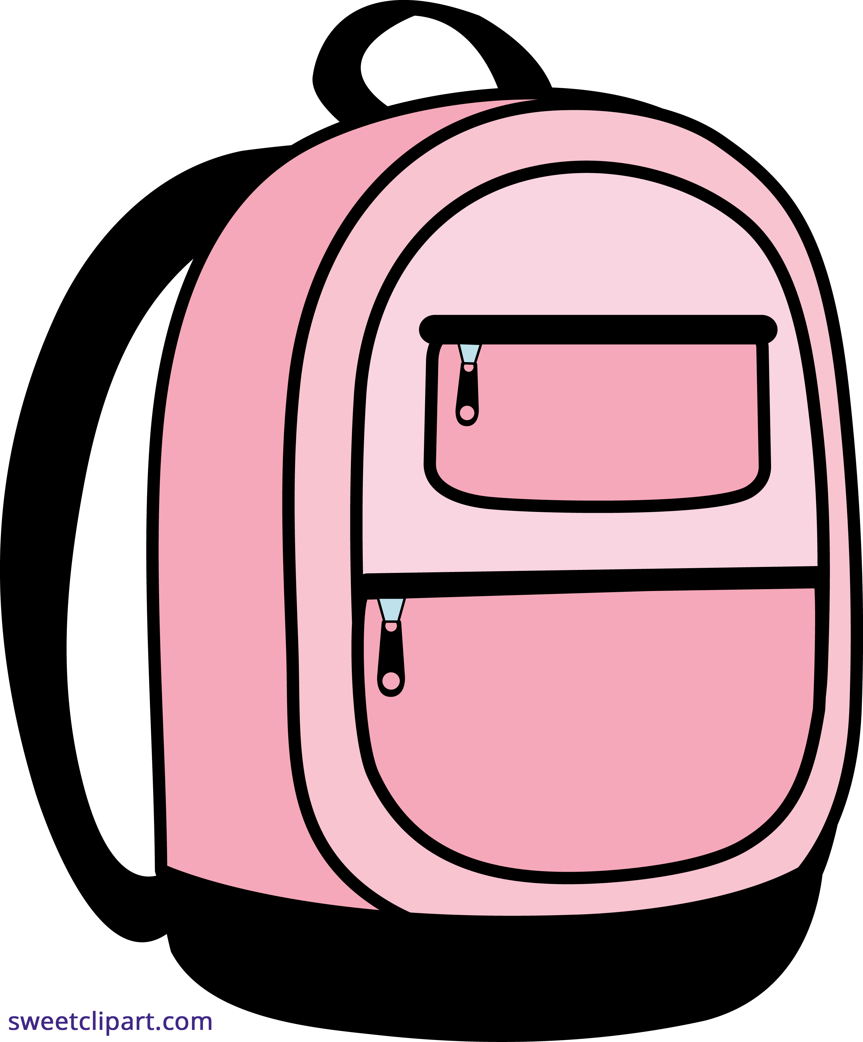 Pink School Backpack Clipart.