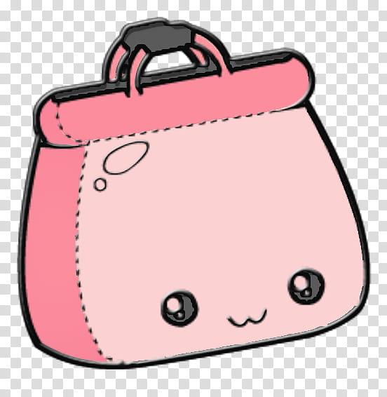 Cute ico, pink handbag art transparent background PNG.