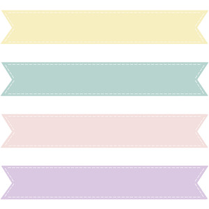 Pastel Banner Cliparts.