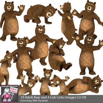 Funny Bear Clip Art.