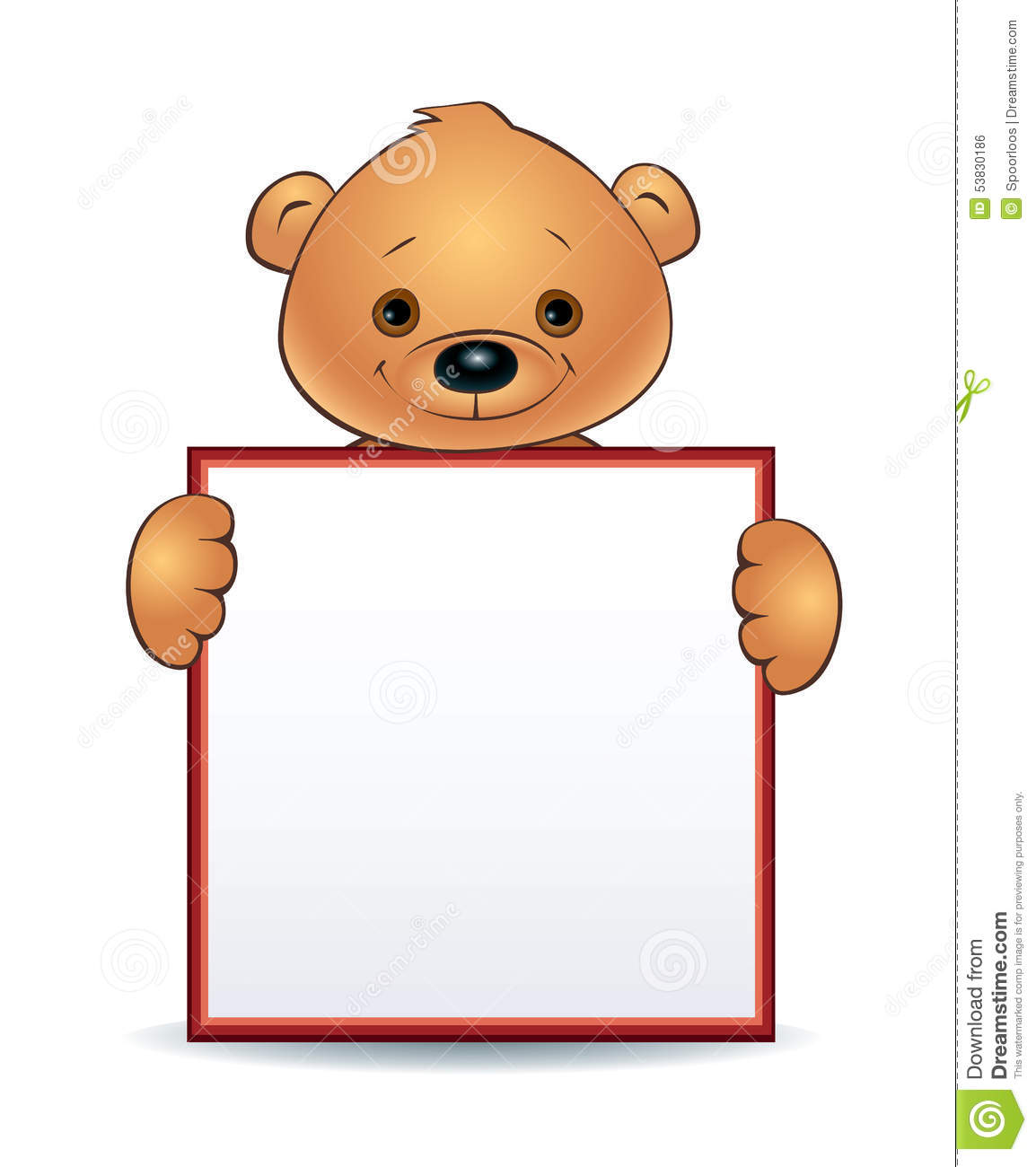 Cute Bear Holding Sign Clipart Clipground