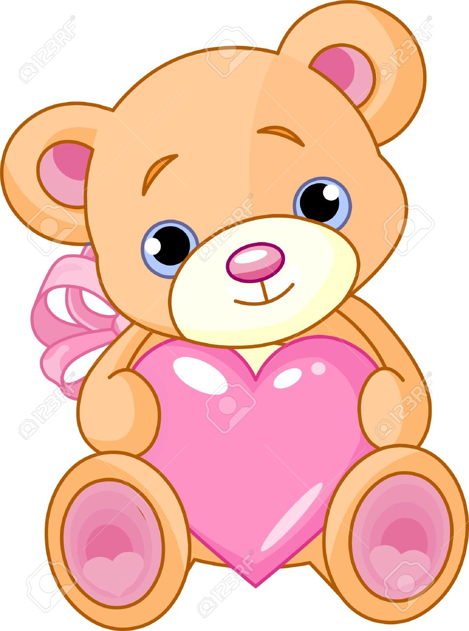 Showing post & media for Cartoons teddy bear holding roses.