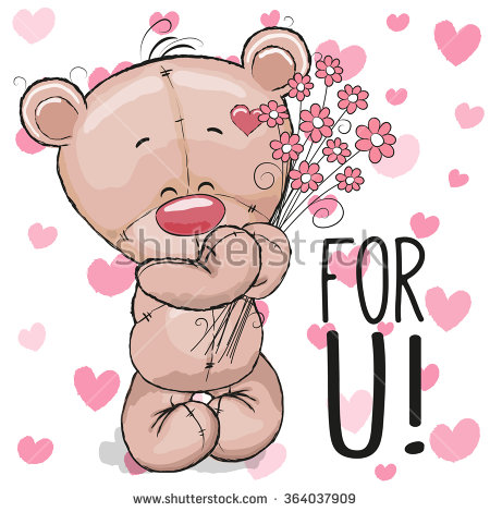 Showing post & media for Cartoon teddy bear with roses.