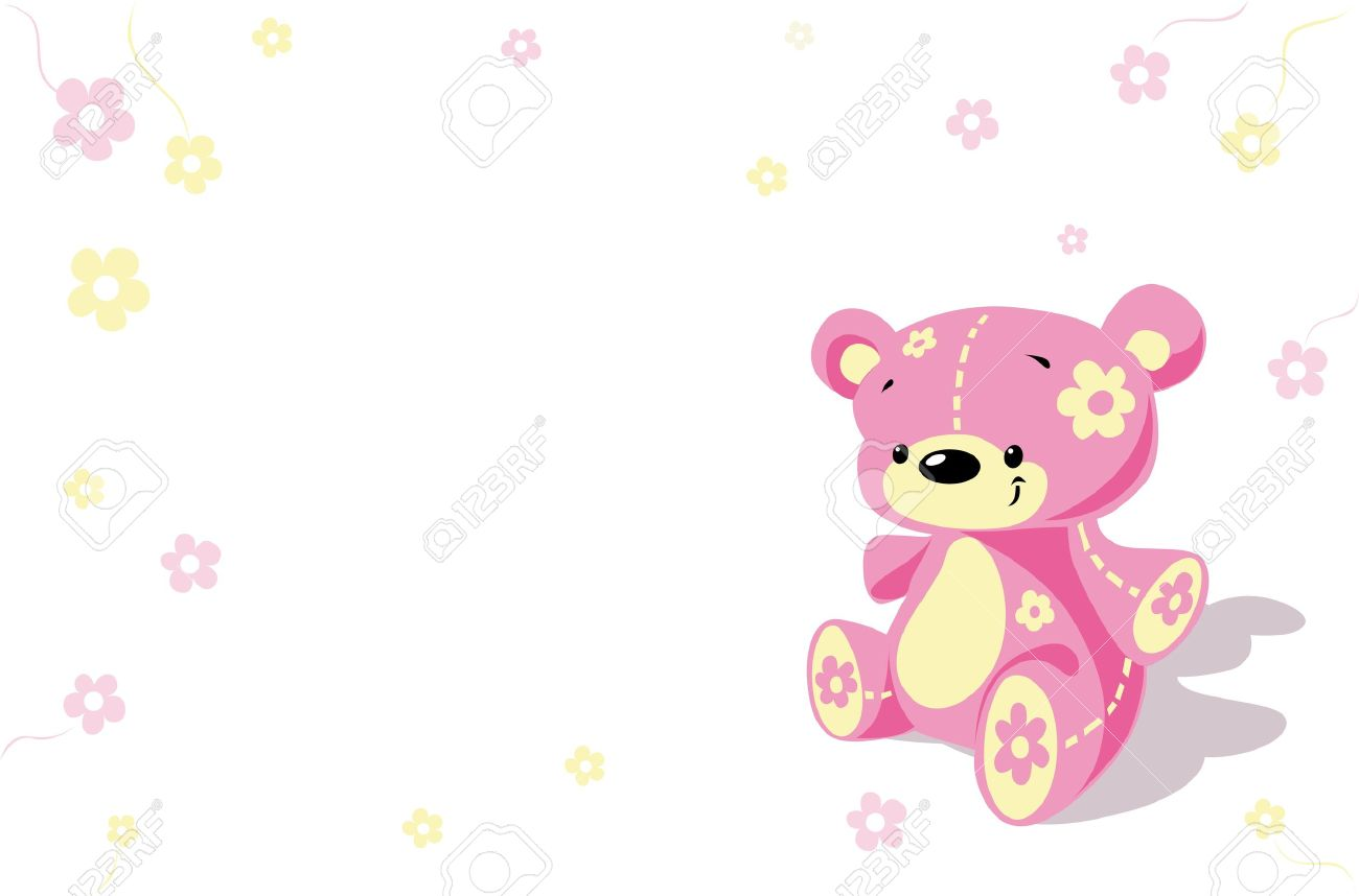 Pink Flower Bear Royalty Free Cliparts, Vectors, And Stock.