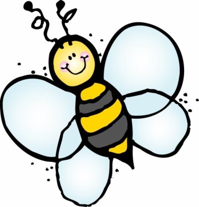 cute bee , Free clipart download.