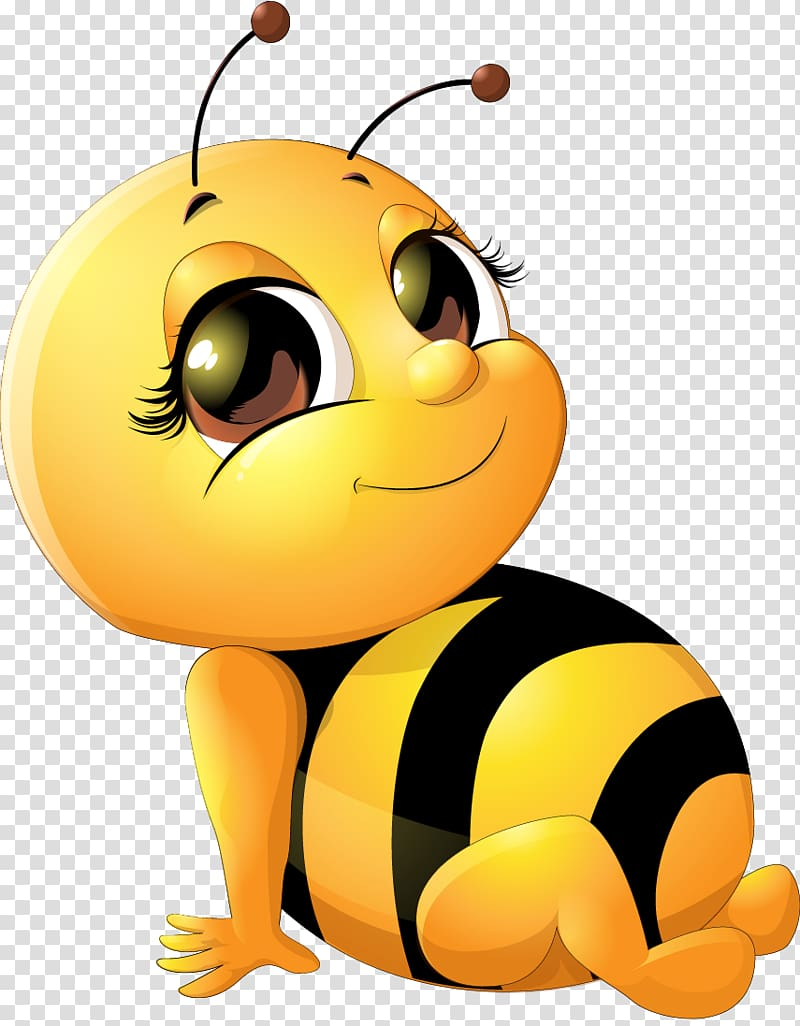 Yellow and black bee illustration, Bee Infant , Cute bee.