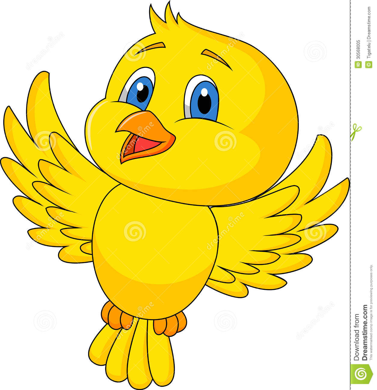 Cute Bird Flying Royalty Free Stock Photos.