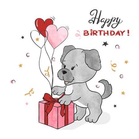 3,184 Happy Birthday Dog Cliparts, Stock Vector And Royalty Free.