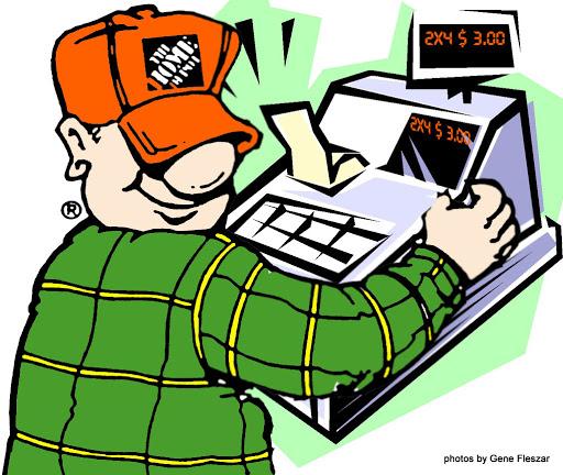 Home Depot Cashier Clipart.