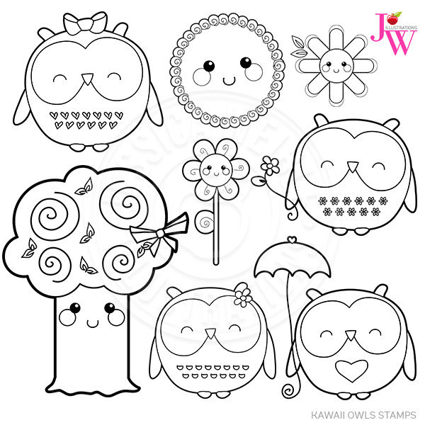 Cute owl clipart black and white 2 » Clipart Station.