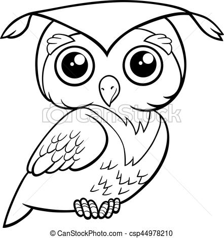 cute owl coloring page.
