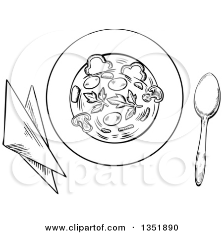 Similiar Bowl Of Black And White Clip Art Of Vegetables Keywords.