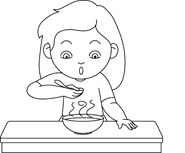 Free Black and White Food Outline Clipart.