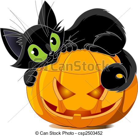 Black Cat Clip Art.