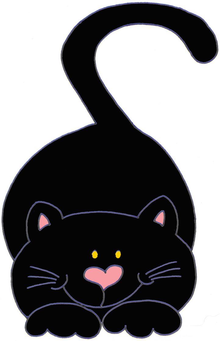 Gatinhos pretos para decoupage.