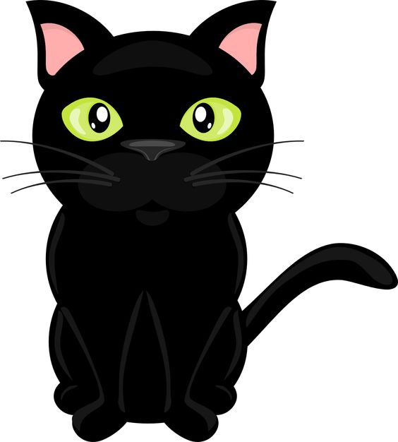 cute black cats clipart - Clipground
