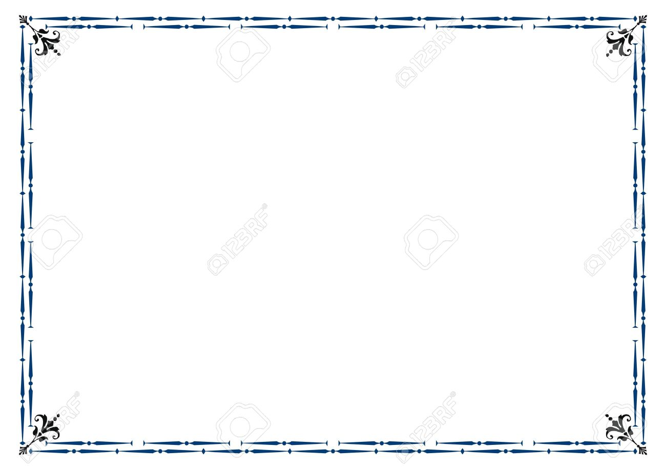 Cute, Simple Frame You Can Use Like Diploma Frame Royalty Free.