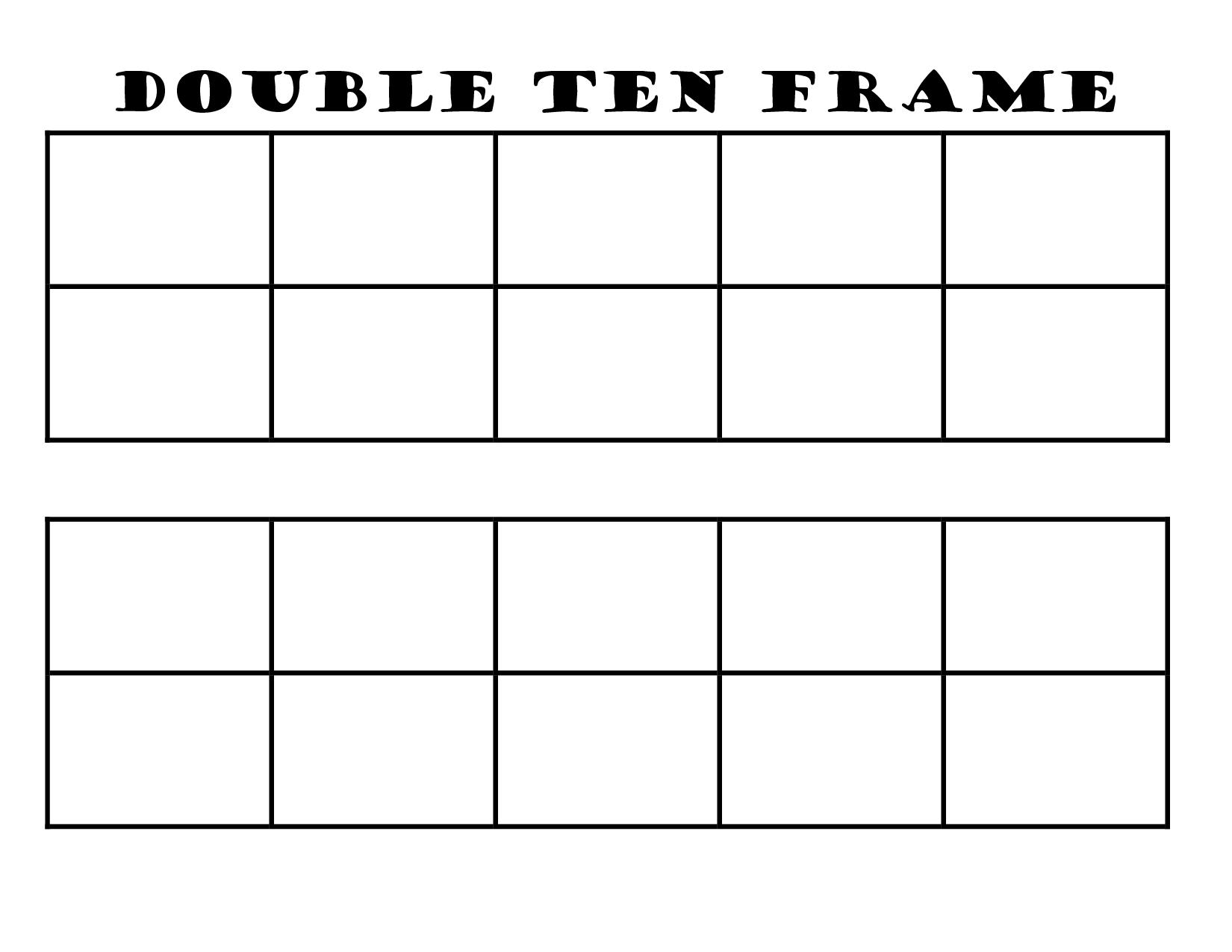 Blank Ten Frame Clipart.