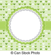 Clipart Vector of Halloween Ghosts Frame or Background with Blank.