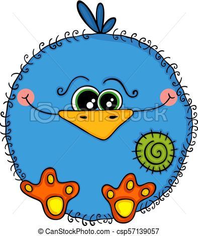 Cute blue bird.