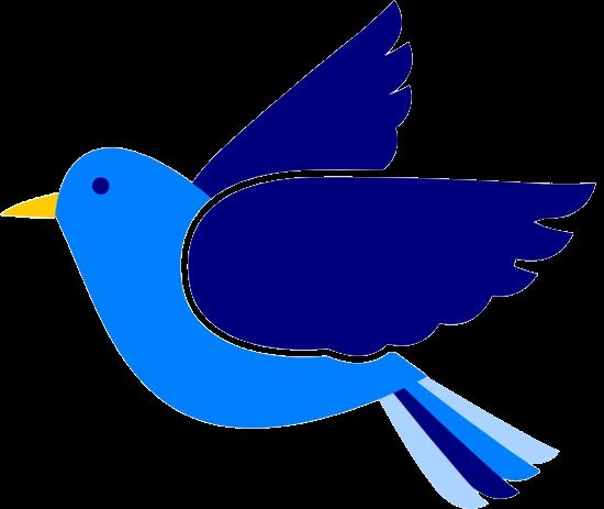 Bird Cute Blue Clip Art Free Birds Clipartix Transparent Png.