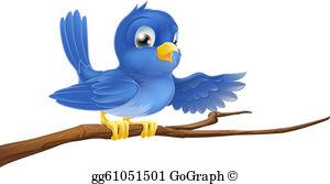 Bluebird Clip Art.