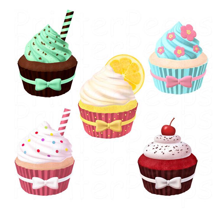 Red Velvet Cupcake Clipart.