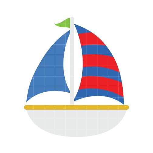 Cute sailboat clipart.