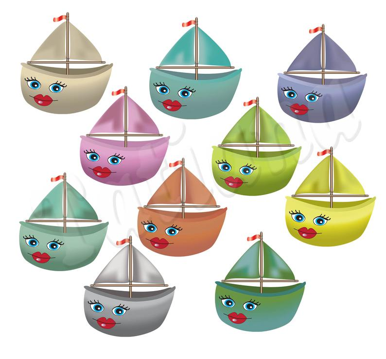 Ship Cartoon Clipart, Cute Boat Doodle Print Supplies, Nautical Character  Illustration, Digital Printable, Commercial use, PNG.