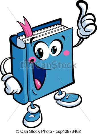 Cartoon cute book mascot character an education and learning concept.