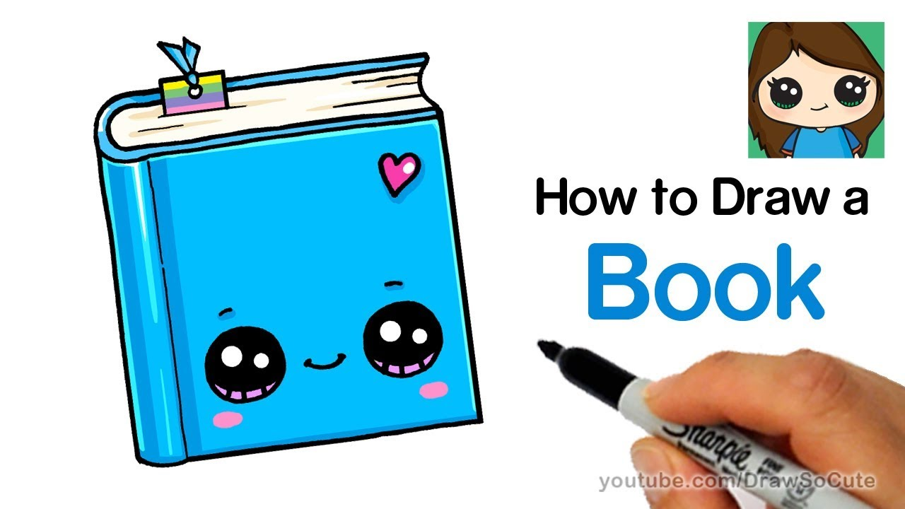 How to Draw a Book Easy.