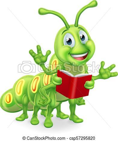 Caterpillar Bookworm Worm Reading.