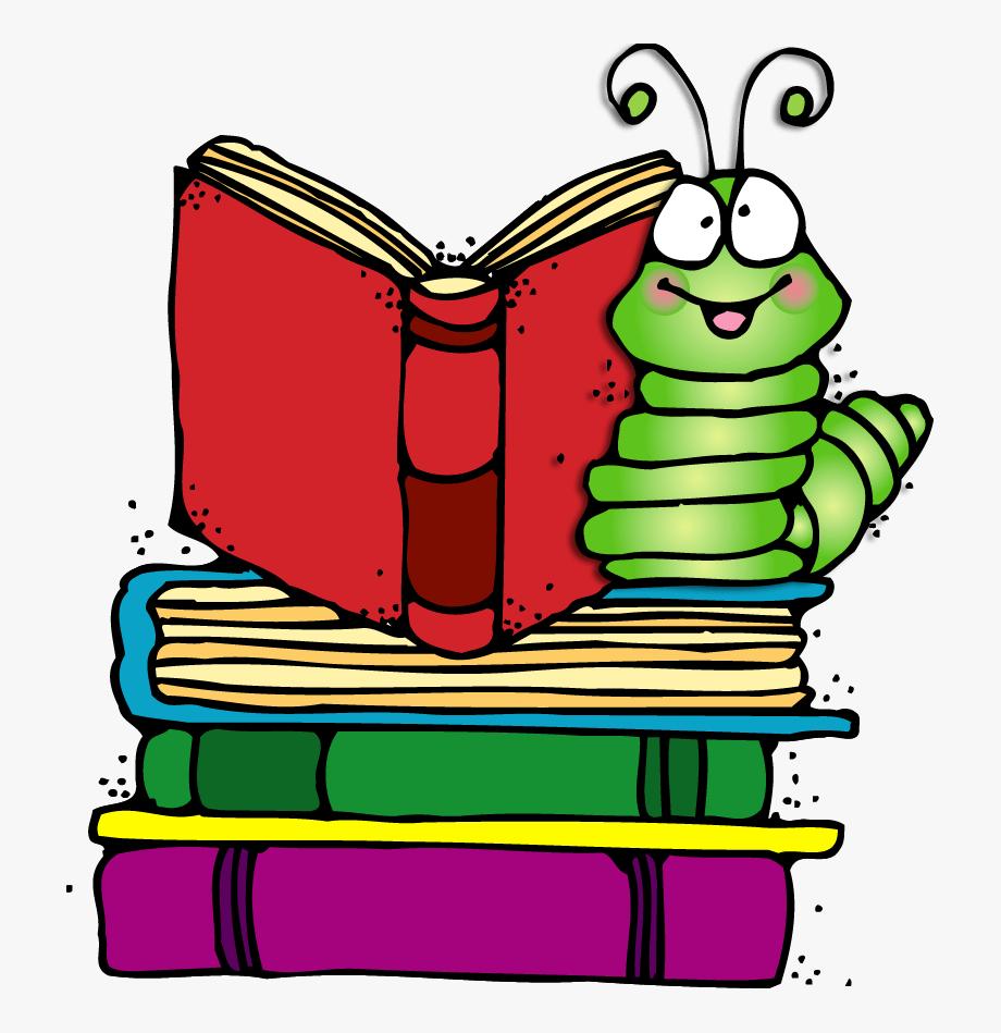 Cute Bookworm Clipart.