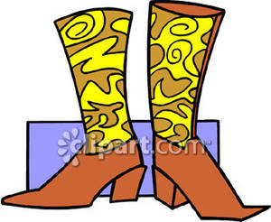 Cute Cowboy Boots Clipart.