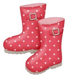 Cute Boots Clipart.