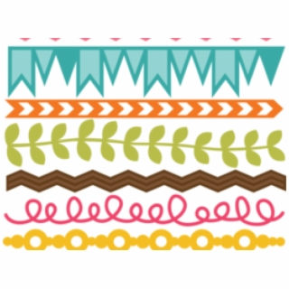 Season Clipart Cute Border Design.