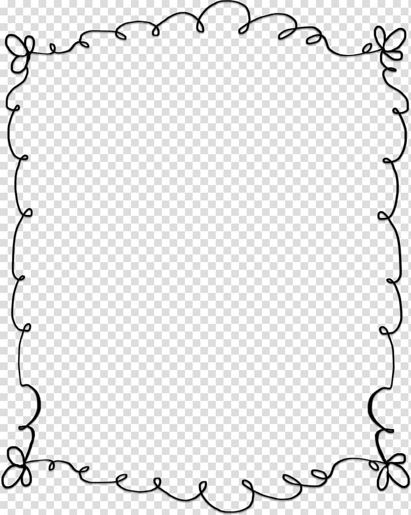 Black frame illustration, Microsoft Word , cute border transparent.