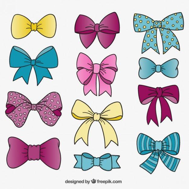 Free vector Cute bow ties #8101.