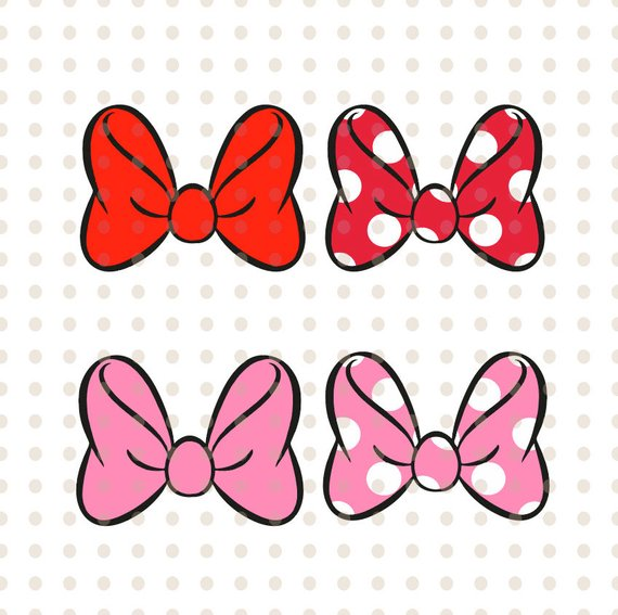 Minnie Mouse bow svg, minnie mouse cute bow svg and png instant.
