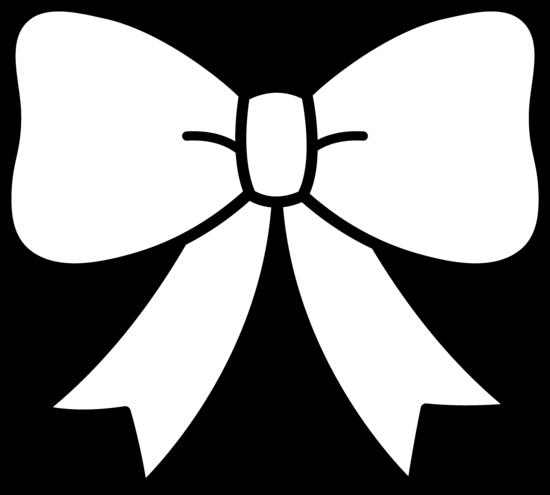 Black and White Bow Design.